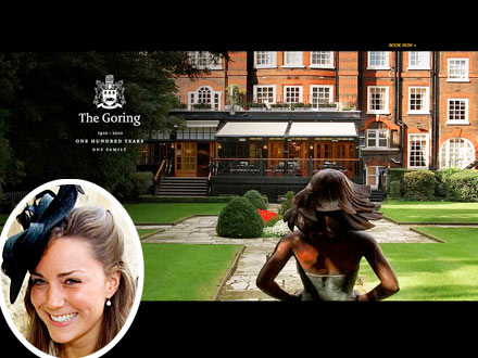 Kate Middleton, Pippa Middleton at Goring Hotel Before Royal Wedding