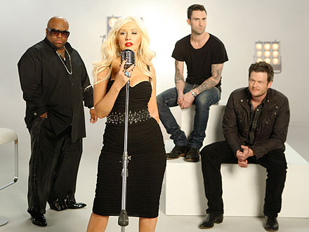 The Voice Judges: Christina Aguilera, Cee Lo Green, Adam Levine & Blake Shelton