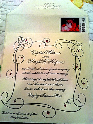 Hugh Hefner, Crystal Harris Wedding Invitation Revealed!