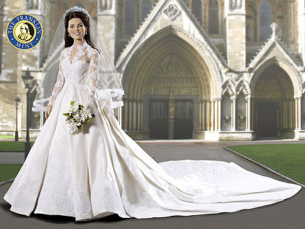 Royal Wedding: Princess Kate Franklin Mint Doll