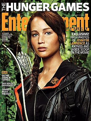Hunger Games: Jennifer Lawrence as Katniss Everdeen