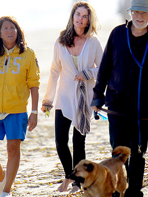 Maria Shriver Takes Sunset Stroll on Malibu Beach
