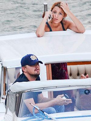 Blake Lively, Leonardo DiCaprio, Italy Boat Ride