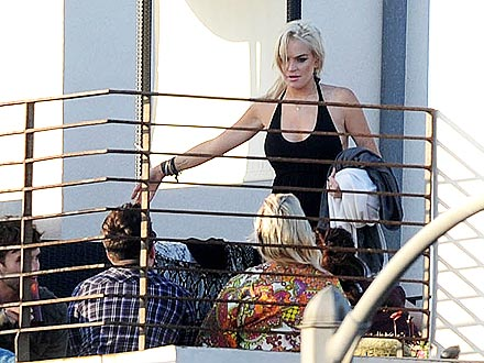 Lindsay Lohan's House Arrest Rooftop Party
