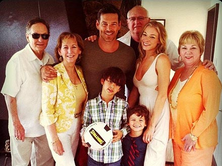 Family photo of the musician, married to Eddie Cibrian, famous for Blue & You Light Up My Life.