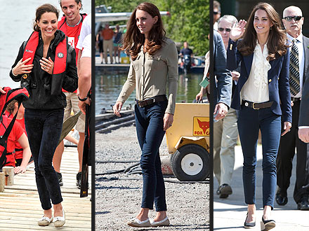Kate Middleton Repeats Jeans in Canada
