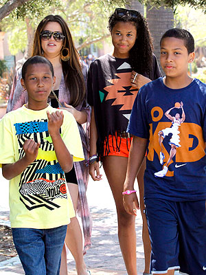 Khloé Kardashian Chills with Stepkids in Malibu