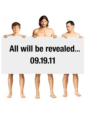 Two and a Half Men: Ashton Kutcher, Jon Cryer Get Naked for  Promo Picture