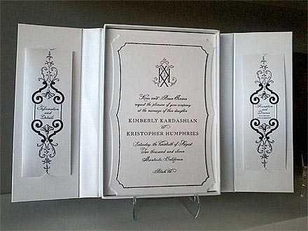 Kim Kardashian Weddings Invitations