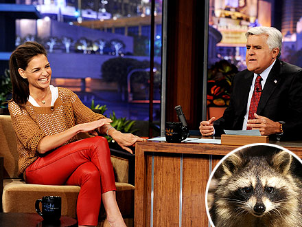 Katie Holmes Talks Raccoon Fear on Jay Leno