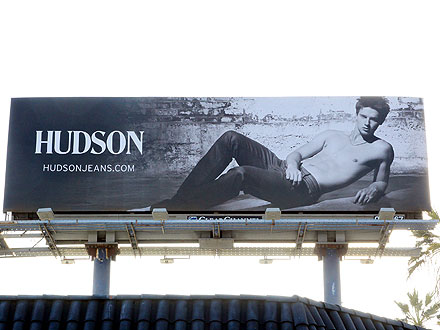 Arnold Schwarzenegger, Maria Shriver's Son Patrick Shirtless for Hudson Jeans