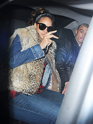 Rihanna Eats at McDonald's After London Show