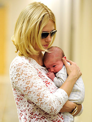 January Jones Baby Xander Meets Her Mad Men Cast: Pictures