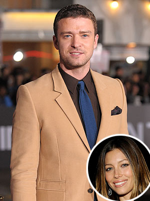 Justin Timberlake & Jessica Biel Together at His Premiere Party