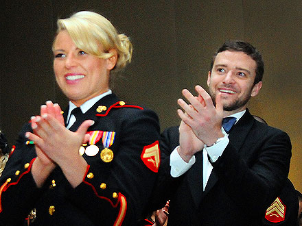 Justin Timberlake Marine Corps Ball Pictures