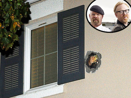 Mythbusters Mishap: Cannonball Crashes Into Two Homes, Minivan