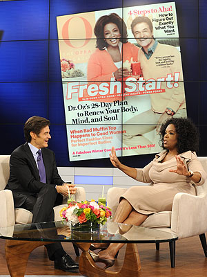 Oprah Winfrey Puts Dr. Oz on O Magazine Cover