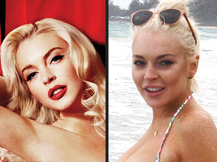 Lindsay Lohan Playboy Photos vs. Beach Photos in Hawaii: POLL