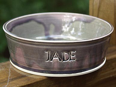 Etsy Fave! Personalized Pet Food Bowls for Dogs Big and Small