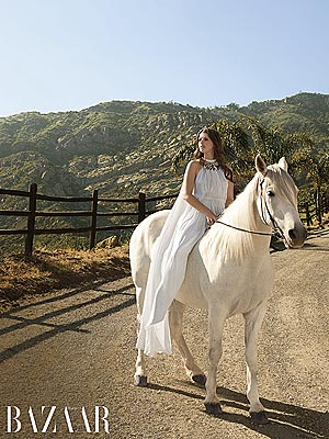 Katherine Schwarzenegger Poses on Horse, Talks Parents' Split in Harper's Bazaar