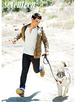 Taylor Lautner Gets in Touch with His Inner Wolf