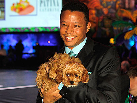 Terrence Howard Auctions Puppy at Alfred Mann Foundation Gala
