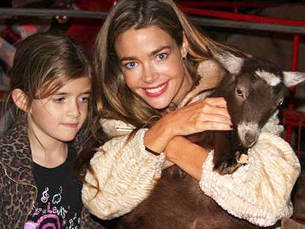Spotted: Denise Richards Gives a Goat a Squeeze