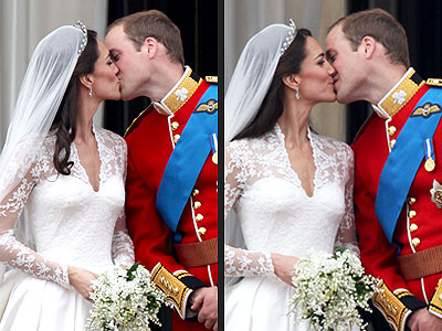 Royal Wedding: Prince William, Kate Middleton Kiss Photos