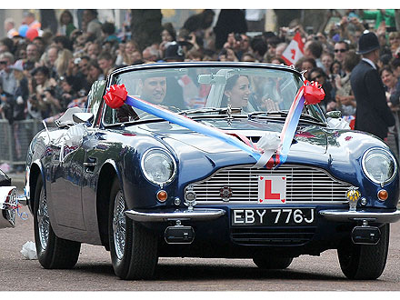 Royal Wedding Coverage: Prince William and Kate Middleton Car