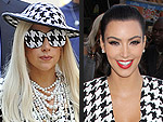 Kim Kardashian's Year of Fashion Faceoffs | Kim Kardashian, Lady Gaga