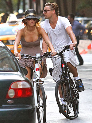 Leo DiCaprio and Blake Lively Ride Bikes in New York City