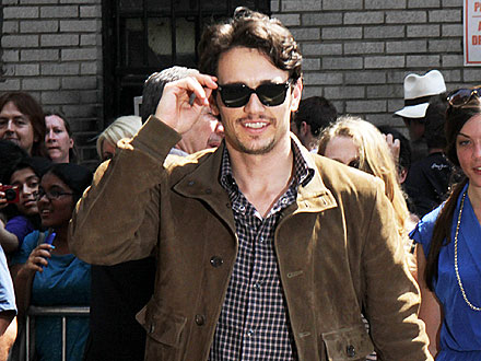 James Franco Dines with Costars in Louisiana
