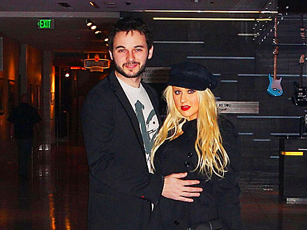 Christina Aguilera Parties in San Diego with Her Boyfriend – and Her Son!
