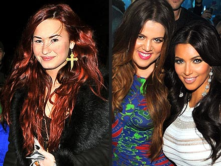 Demi Lovato Keeps Up with Kim and Khloé Kardashian | Demi Lovato, Khloe Kardashian, Kim Kardashian