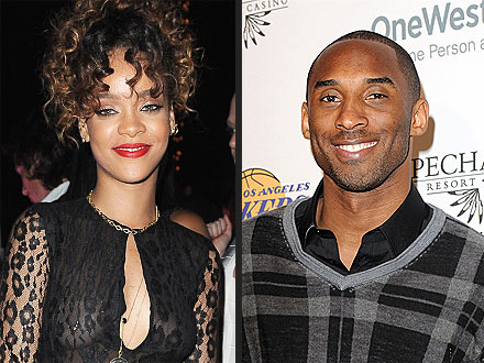 Rihanna Takes Over Kobe Bryant's Table at Basketball Bash