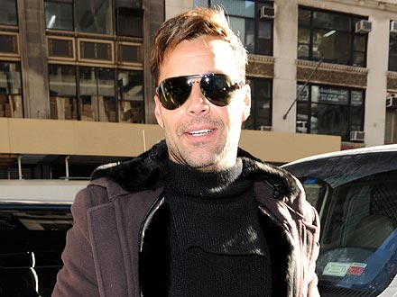 Ricky Martin Takes His Twins out for Lunch in N.Y.C.