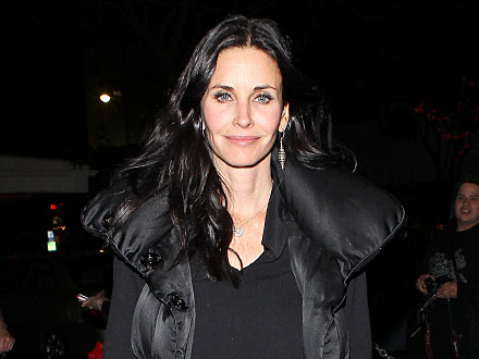Courteney Cox Enjoys Martinis with a Male Pal