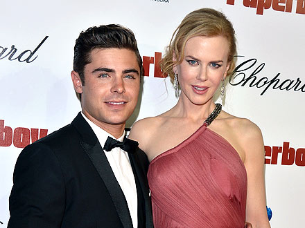 Zac Efron Parties with Nicole Kidman in Cannes