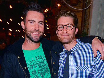 Adam Levine Has a Guys' Night – with Matthew Morrison & Cash Warren – to Celebrate His Details Cover