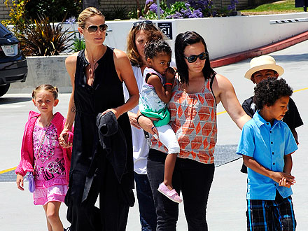 Heidi Klum Treats Her Kids to a Movie & M&Ms