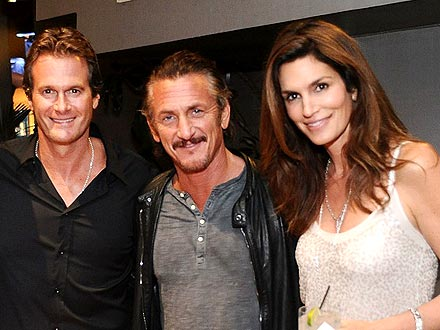 Sean Penn Parties with Cindy Crawford & Friends Way Past Midnight