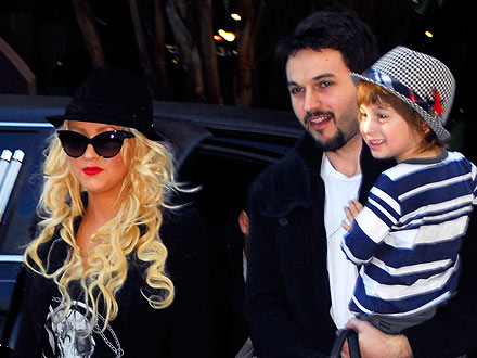 Christina Aguilera and Matt Rutler Share a Five-Course Dinner Date with Her Son Max