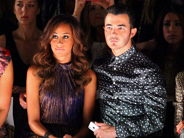 Kevin & Danielle Jonas Sit Front Row at Fashion Week