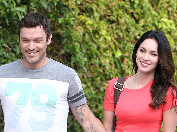 Megan Fox & Brian Austin Green Enjoy Mexican Food in L.A.