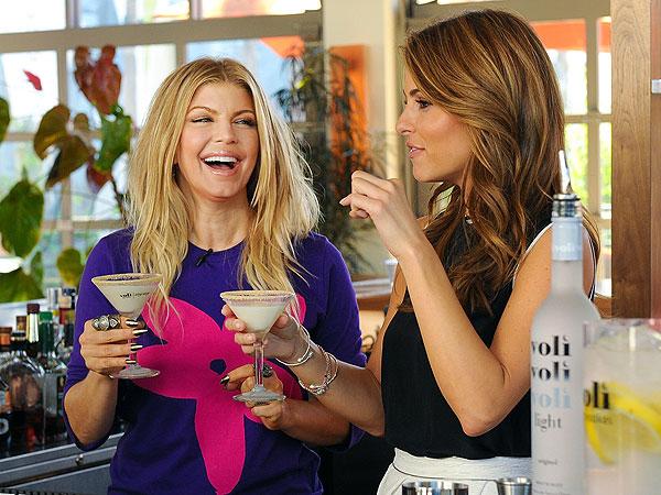 Fergie & Maria Menounos Play Bartenders in Los Angeles