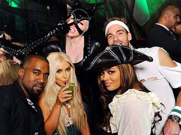Kim Kardashian Wears $2,000 Wig During Halloween Party in N.Y.C.