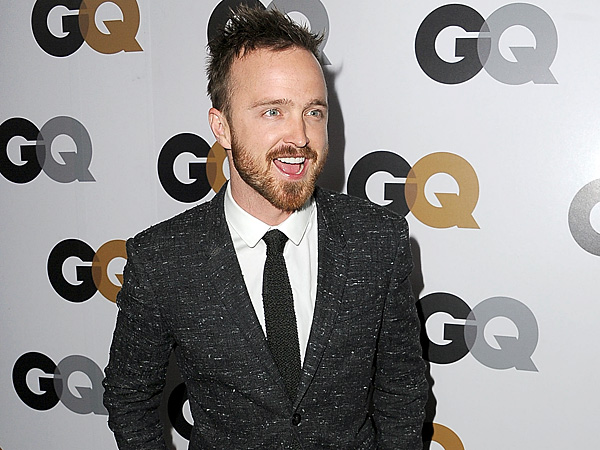 Aaron Paul Gets Down with the Guys in West Hollywood