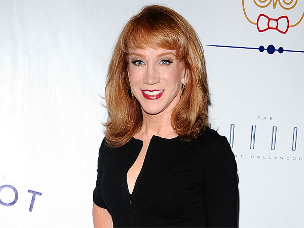Kathy Griffin Snacks on Calamari in Boston