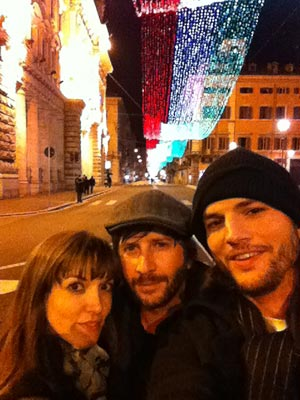 Ashton Kutcher in Rome with Lorene Scafaria after Demi Moore Split