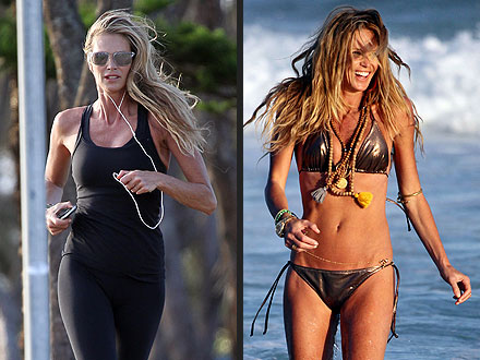 Elle MacPherson Bikini, Jogging Photos